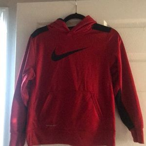 Nike Red Boys Large Thermafit hoody sweatshirt